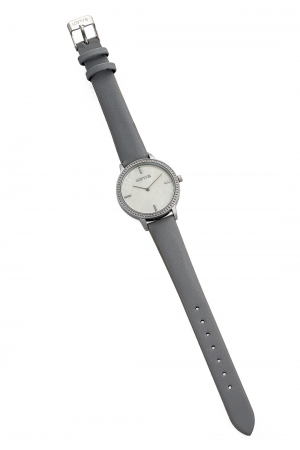 LOFTY'S Cassiopi Crystals Grey Leather Strap Y2014-3