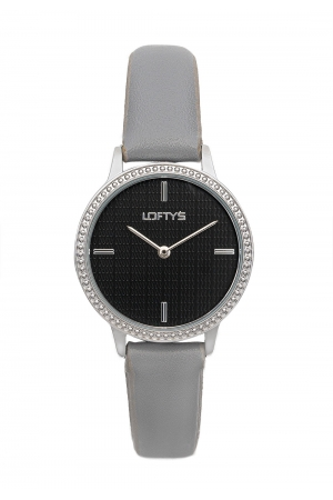 LOFTY'S Cassiopi Crystals Grey Leather Strap  Y2014-4
