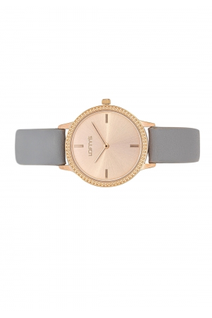 LOFTY'S Cassiopi Crystals Grey Leather Strap  Y2014-5