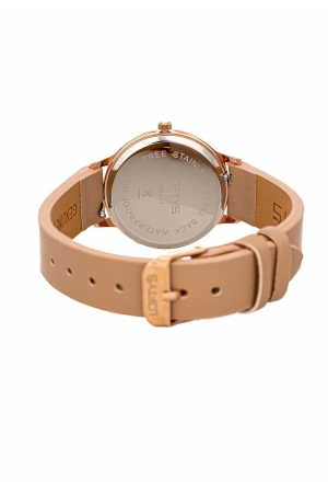 LOFTY'S Cassiopi Crystals Beige Leather Strap Y2014-6