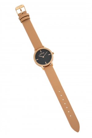 LOFTY'S Cassiopi Crystals Beige Leather Strap Y2014-7