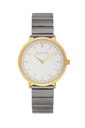 LOFTY'S Corona Grey Stainless Steel Bracelet Y2016-24