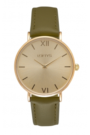 LOFTY'S Vintage Khaki Leather Strap