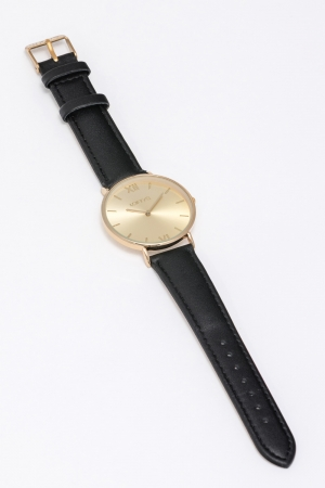 LOFTY'S Vintage Black Leather Strap
