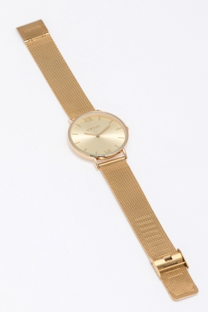 LOFTY'S Vintage Gold Mesh Stainless Steel Bracelet