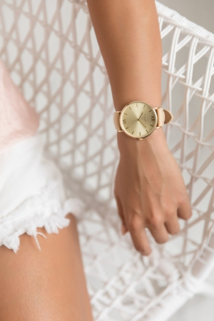 LOFTY'S Vintage Beige Leather Strap