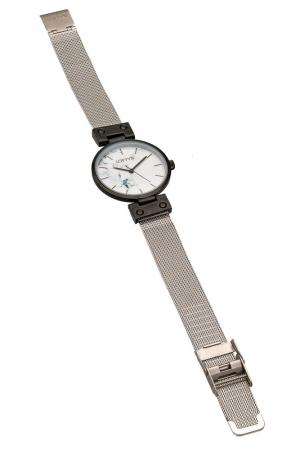 Ρολόι Loftys Kelly με ασημί μπρασελέ και λευκό καντράν Y3409-45