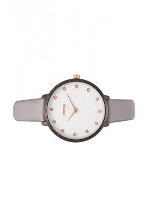 Ρολόι Loftys Rosalinda με γκρι λουράκι και λευκό καντράν Y3410-26