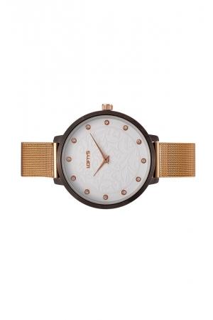 Ρολόι Loftys Rosalinda με ροζ χρυσό μπρασελέ και λευκό καντράν Y3410-29