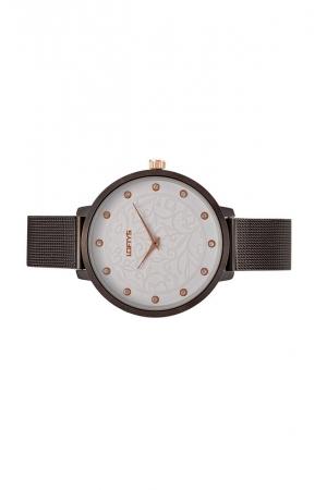 Ρολόι Loftys Rosalinda με μαύρο μπρασελέ και λευκό καντράν Y3410-30