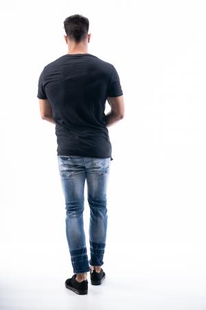Μπλούζα Ασύμετρη με Ψηφιακό Τύπωμα