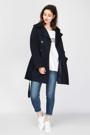 COZY Belted Trench Coat