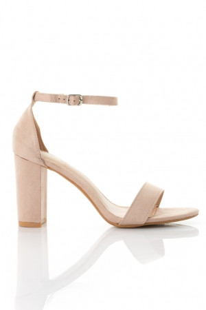 Heeled Sandals In Nude
