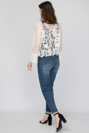 CROPPED LACE CARDIGAN