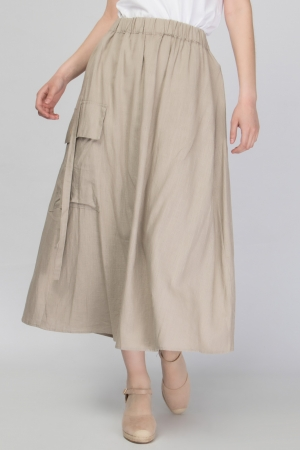 COZY Maxi Skirt in Linen