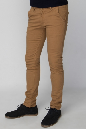 Tan Chino Trouser - Skinny Fit
