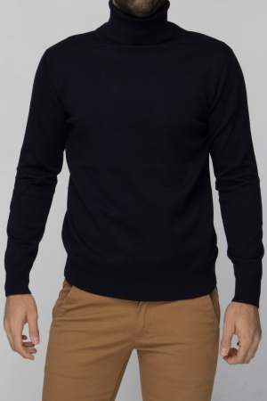 COZY Navy Turtleneck Sweater