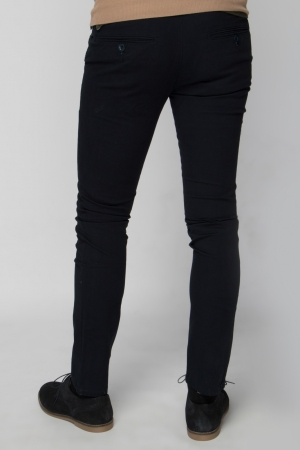 Dark Blue Chino Trouser - Skinny Fit