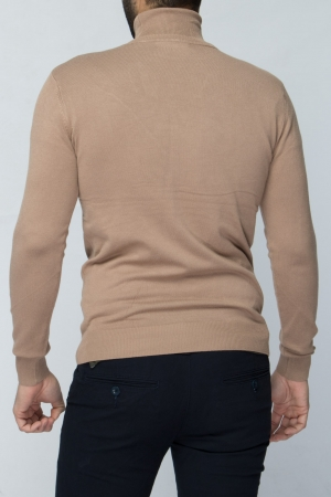 COZY Camel Turtleneck Sweater