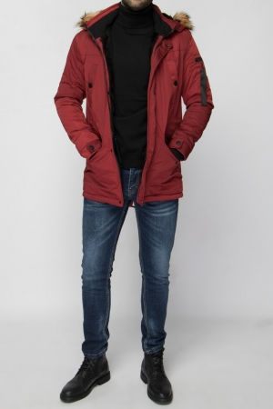 BURGUNDY MEN PARKA