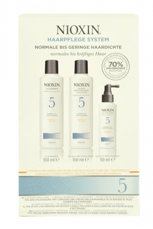 Nioxin System 5 Shampoo 150ml Combo: 150ml System 5 Cleanser Shampoo + 150ml System 5 Scalp Revitaliser Conditioner + 50ml System 5 Scalp Treatment (Normal Hair)