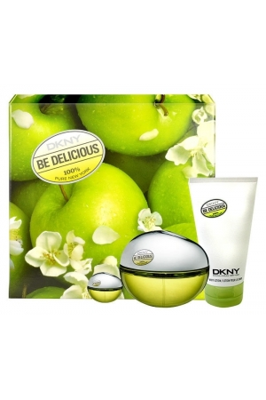 Dkny Be Delicious Eau De Parfum 100ml Combo: Edp 100ml + Edp 7ml + 100ml Body Lotion