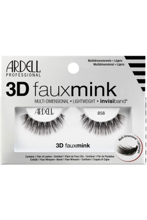 Ardell 3D Faux Mink 858 False Eyelashes Black 1pc