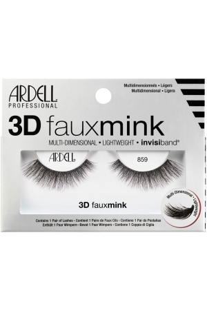 Ardell 3D Faux Mink 859 False Eyelashes Black 1pc