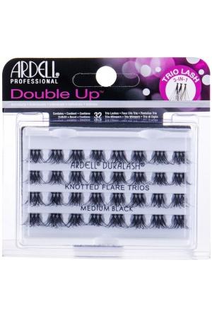 Ardell Double Up Knotted Trio Lash False Eyelashes Medium Black 32pc