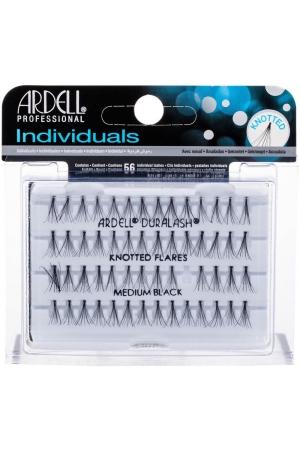 Ardell Individuals Duralash Knotted Flares False Eyelashes Medium Black 56pc