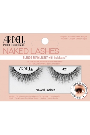 Ardell Naked Lashes 421 False Eyelashes Black 1pc