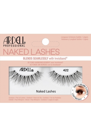 Ardell Naked Lashes 422 False Eyelashes Black 1pc
