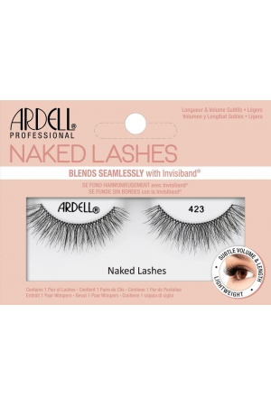 Ardell Naked Lashes 423 False Eyelashes Black 1pc