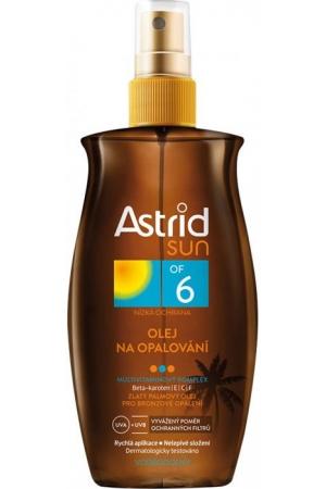 Astrid Sun Tanning Oil SPF6 Sun Body Lotion 200ml (Waterproof)
