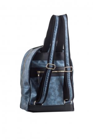 Basic Hobo Backpack Metallic Blue