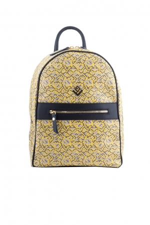 Basic Stitch Backpack Yellow Leather