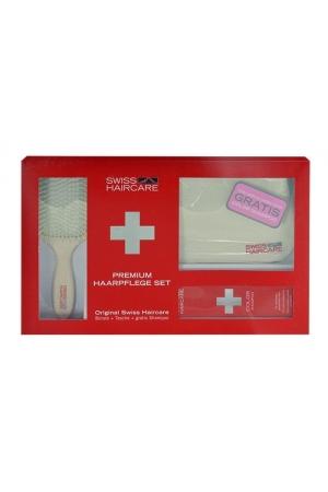 Swiss Haircare Premium Hairbrush 1pc Combo: Paddle Brush + Bag + 200ml Color Shampoo