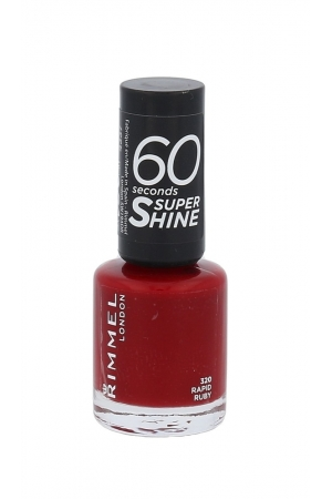 Rimmel London 60 Seconds Super Shine Nail Polish 8ml 320 Rapid Ruby