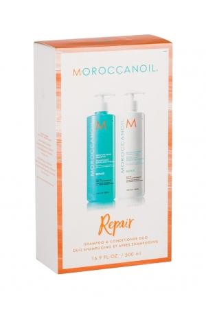 Moroccanoil Repair Shampoo 500ml - Set (Colored Hair - Damaged Hair)