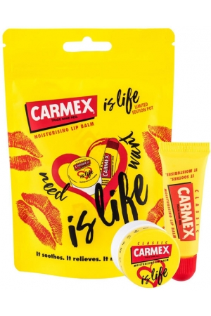 Carmex Classic Is Life Lip Balm 10gr Combo: Lip Balm 10 G + Lip Balm Is Life Classic 7,5 G (For All Ages)
