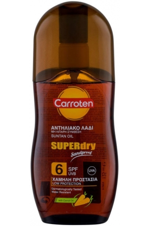 Carroten Superdry Suntan Oil SPF6 Sun Body Lotion 125ml (Waterproof)