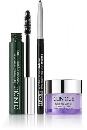Clinique High Impact Mascara 01 Black 7ml Combo: Mascara 7 Ml + Make-Up Remover Balm Take The Day Off 15 Ml + Eye Pencil Quickline 0,14 G Intense Ebony