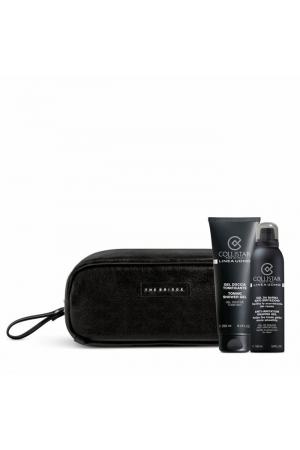 Collistar Linea Uomo Shower Gel 250ml Combo: Shower Gel 250 Ml + Shaving Gel 150 Ml + Cosmetic Bag The Bridge