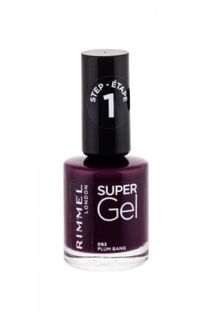 Rimmel London Super Gel Step1 Nail Polish 12ml 093 Plum Bang