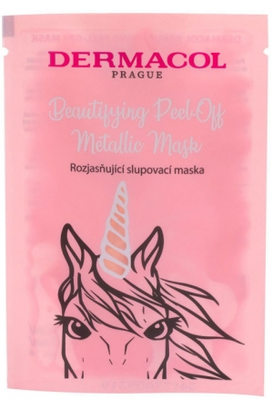 Dermacol Beautifying Peel-off Metallic Mask Brightening Face Mask 15ml (For All Ages)