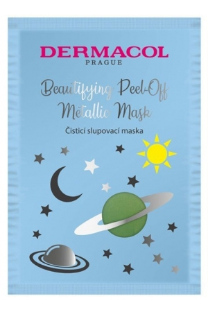 Dermacol Beautifying Peel-off Metallic Mask Cleansing Face Mask 15ml (For All Ages)