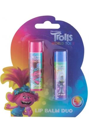 Dreamworks Trolls Duo Kit Lip Balm 4,2gr Combo: Lip Balm 4,2 G Cherry + Lip Balm 4,2 G Lemon (For All Ages)