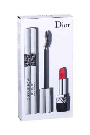 Christian Dior Diorshow Iconic Overcurl Mascara 10ml - Set 090 Over Black Combo Mascara 10 Ml + Lipstick Mini Rouge 999 1,5 G