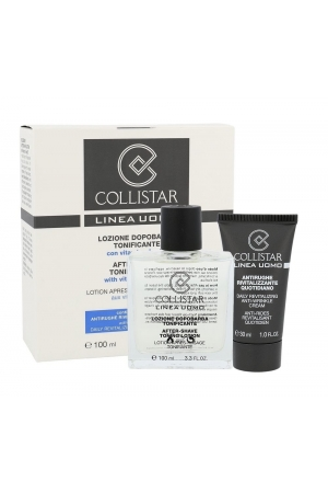Collistar Men Aftershave Water 100ml Combo: 100 Ml After-shave Tonin Lotion + 30 Ml Anti-wrinkle Cream