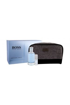 Hugo Boss Boss Bottled Tonic Eau De Toilette 100ml - Set Combo Edt 100 Ml + Edt 8 Ml + Cosmetic Bag